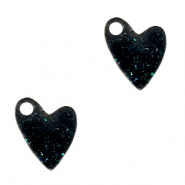 Plexx charms heart shimmery Black