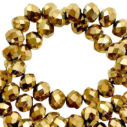 Top faceted bracelets 3x2mm Goldbronze