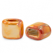 C.U.S jewellery sliders DQ greek ceramic 11x12mm Amberglow Orange