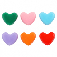 Acrylic letter beads hearts Multicolour