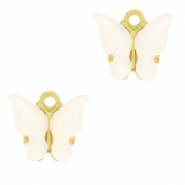 Stainless steel charms butterfly Off White-Gold