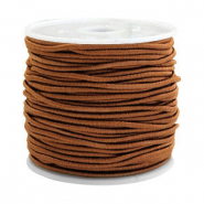 Coloured elastic cord 1.5mm Chocolate Brown