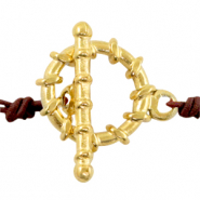 Stainless steel findings toggle clasp Gold