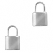 Stainless steel charms lock Silver