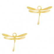 Stainless steel charms dragonfly Gold