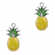 Metal charms pineapple Silver-Yellow