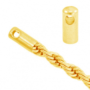Stainless Steel findings end cap for belcher chain twist Gold