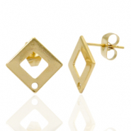 Stainless steel earrings/earpin square with eye Gold
