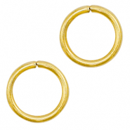 Stainless steel findings jump ring 8mm Gold