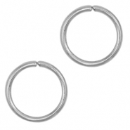 Stainless steel findings jump ring 5mm Silver