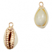 Shell pendant specials Cowrie Sand Brown-Gold