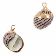 Shell pendant specials Whelks Grey Brown-Gold