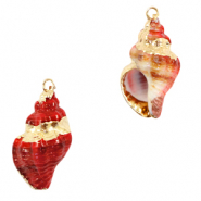 Shell pendant specials Whelks Red-Gold