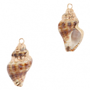 Shell pendant specials Whelks Brown-Gold