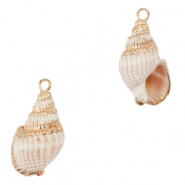 Shell pendant specials Whelks Off White-Gold