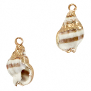 Shell pendant specials Whelks Light Brown-Gold