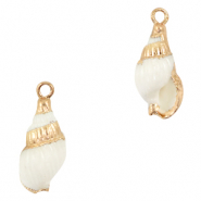 Shell pendant specials Whelks White-Gold