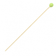 DQ European metal findings headpin 52mm Gold-Lime Green (nickel free)