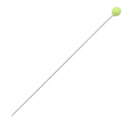 DQ European metal findings headpin 52mm Antique Silver-Lime Green (nickel free)