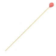 DQ European metal findings headpin 52mm Gold-Coral Red (nickel free)