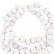 Wooden beads round 12mm White