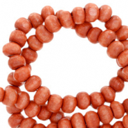 Wooden beads round 6mm Vintage Red