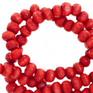 Wooden beads round 6mm Mars Red