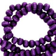 Wooden beads round 6mm Dark Purple