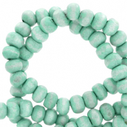 Wooden beads round 6mm Light Turquoise