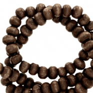 Wooden beads round 4mm Coffee Brown
