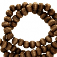 Wooden beads round 4mm Tuscany Brown