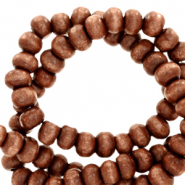 Wooden beads round 4mm Almond Brown