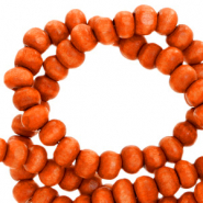 Wooden beads round 4mm Rust Red