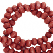 Wooden beads round 4mm Port Red