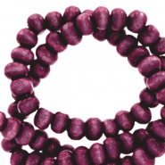 Wooden beads round 4mm Tillandsia Purple