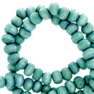 Wooden beads round 4mm Canton Blue