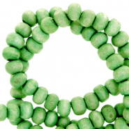 Wooden beads round 4mm Spring Green