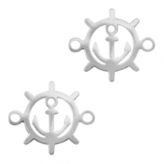 Stainless steel charms/connector steering wheel Silver