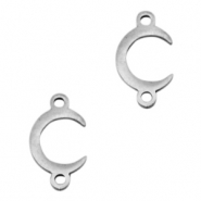 Stainless steel charms/connector horn Silver