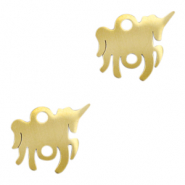 Stainless steel charms/connector unicorn Gold