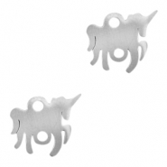 Stainless steel charms/connector unicorn Silver