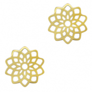 Stainless steel charms/connector flower Gold