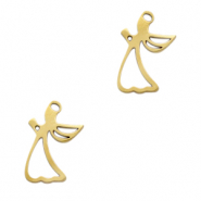 Stainless steel charms angel Gold