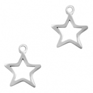 Stainless steel charms star Silver