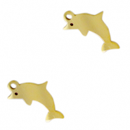 Stainless steel charms dolphin Gold