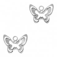 Stainless steel charms butterfly Silver