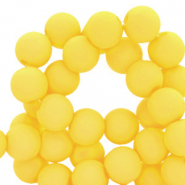 4 mm acrylic beads matt Blazing Yellow