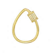 Zirconia clasp drop Gold