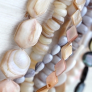 NEW Shell pearls in wonderful colours and shapes