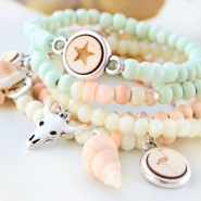 NEW New: wooden beads in summer colours!